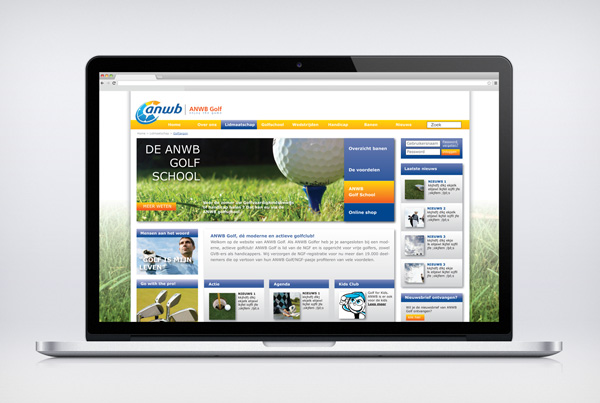Website ANWB Golf